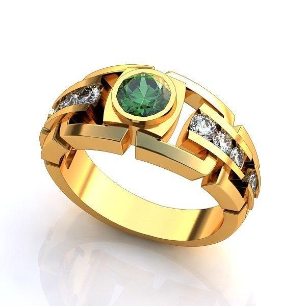 Мужские кольца и перстни-печатки из золота и серебра в каталоге