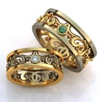 купить парные кольца со знаком бесконечности