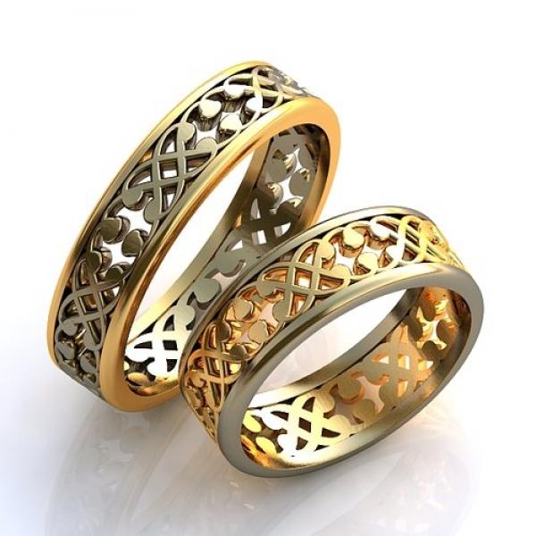 Обручальные кружевные кольца