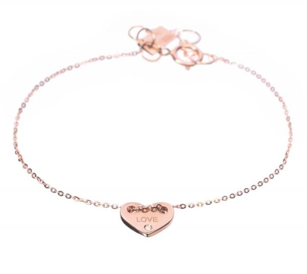 золотой браслет женский с подвеской