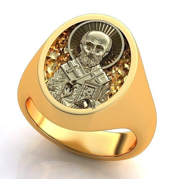Мужское кольцо с ониксом и фианитами из комбинированного золота 585 пробы. . Интересны и мужские печатки из золота с