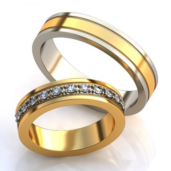 Парные обручальные кольца из двух видов золота   AOG-obr-687 702d332bc32